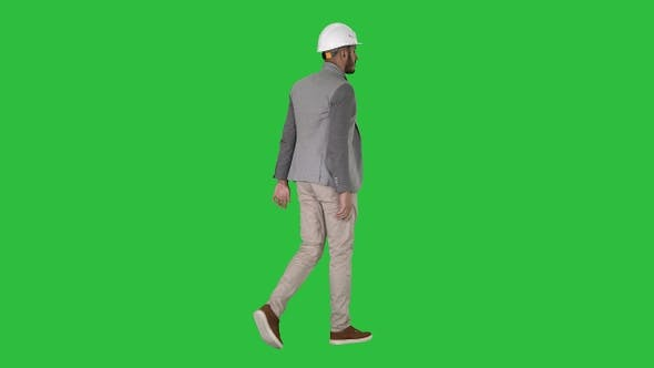 Thumbnail for Arabian engineer with hardhat walking Safety concept on