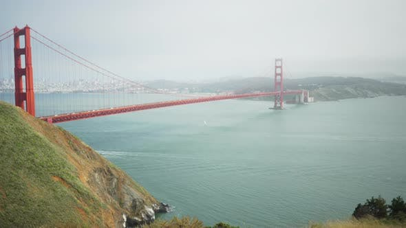 Thumbnail for Scenic view of the San Francisco Bay and Golden Gate bridge