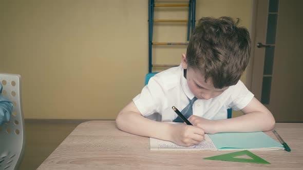 Travelling: Pupils, Little Boys, Do Their Homework
