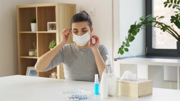 Thumbnail for Young Woman Wearing Protective Medical Mask