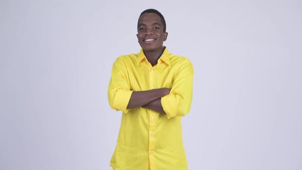 Thumbnail for Young Happy African Businessman Smiling with Arms Crossed