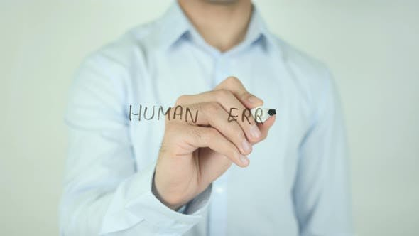 Thumbnail for Human Error, Writing On Screen