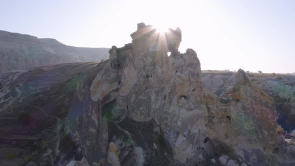 Volcanic Rock in Cappadocia Valley, Turkey.