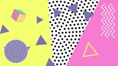 Abstract geometric triangles and dots