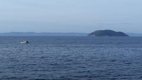 Fishing boat at the Mediterranean Sea around Neo Marmaras