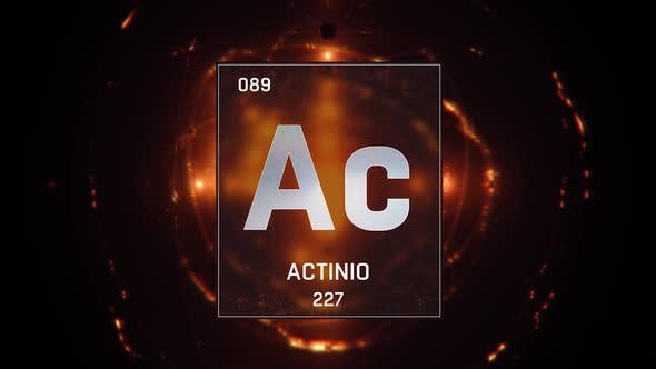 Thumbnail for Actinium as Element 89 of the Periodic Table on Orange Background in Spanish Language