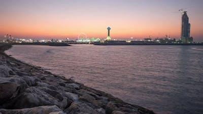 Evening time lapse in Abu Dhabi