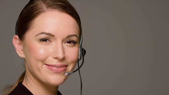Thumbnail for Call Center Operator Talking And Smiling