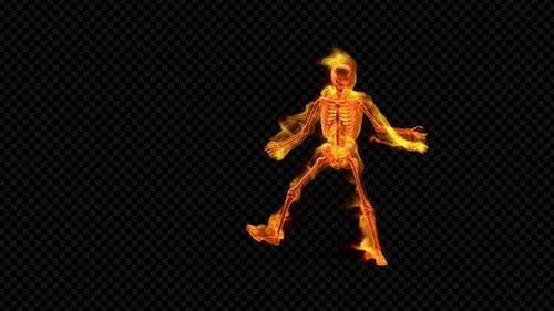 Fiery Skelet Jump Dance
