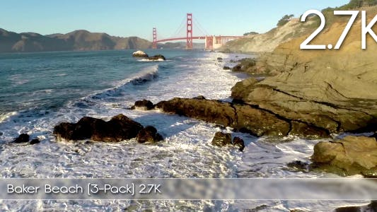 Thumbnail for Beach and Golden Gate Aerial (3-Pack)