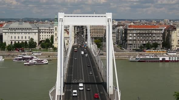Thumbnail for Traffic at the Elisabeth Bridge of Budapest