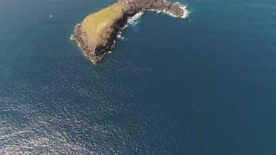 Rocky Island in the Ocean