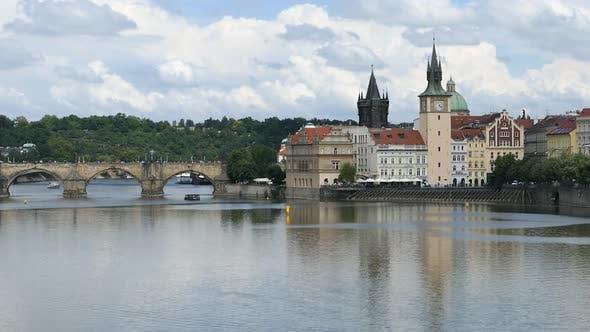 Thumbnail for Prague City - Old Town - Charles Bridge - Vltava River