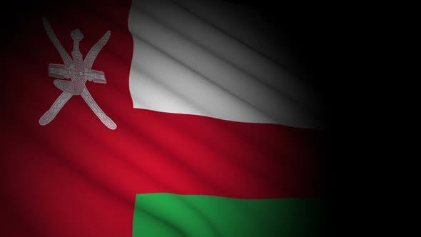 Thumbnail for Oman Flag Blowing in Wind