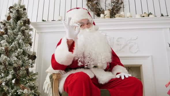Thumbnail for Happy Santa Claus Showing Okay Sign