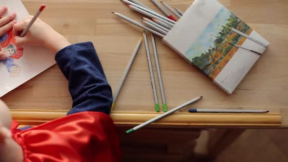 Thumbnail for Little Boy Draws Superman.