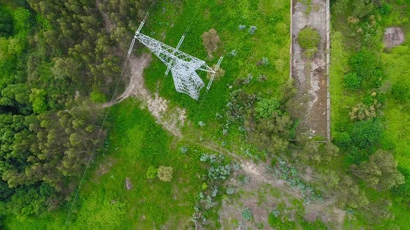 Power Lines Aerial View