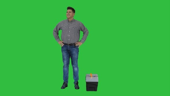 Thumbnail for Male Contraction Worker Ready for Work Casual Man