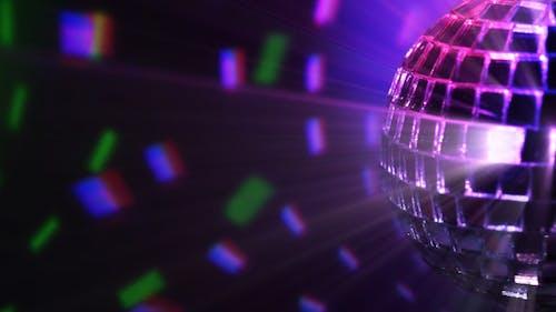 Colored Dark BG And Disco Ball