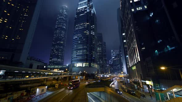 Cover Image for Traffic In Business District At Night
