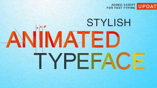 Stylish Animated Typeface
