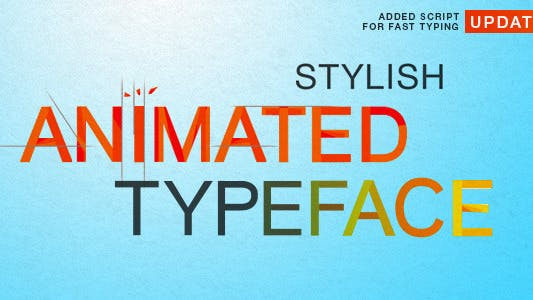Thumbnail for Stylish Animated Typeface