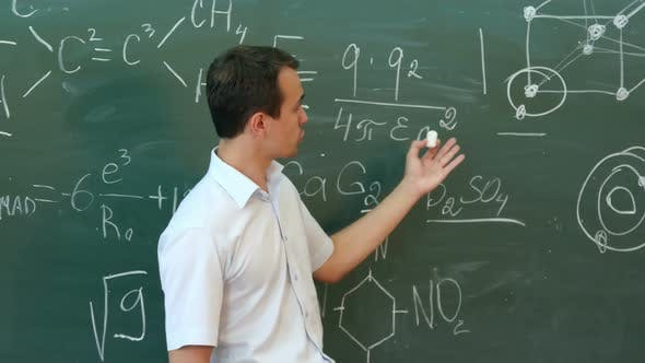 Thumbnail for Teacherof Chemistry Leading Lecture and Explain Something