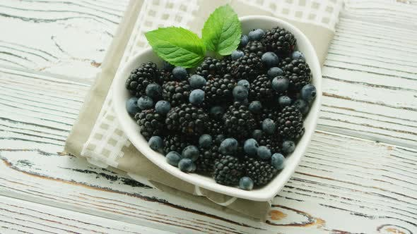 Thumbnail for Blueberry and Blackberry in Bowl