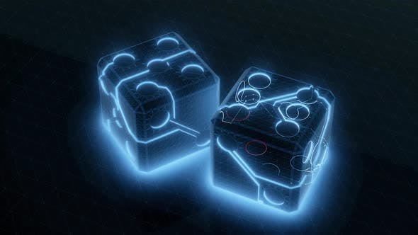 Digital Dice Cubes 4k