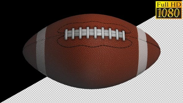 American Football Ball On Alpha Channel Loops Pack V1