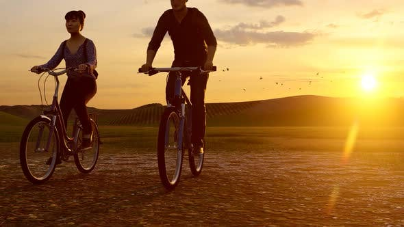 Thumbnail for Couple Biking in Nature