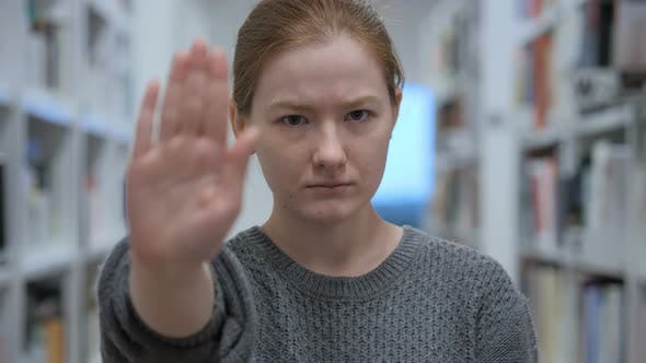 Thumbnail for Stop Gesture by Young Woman in Office