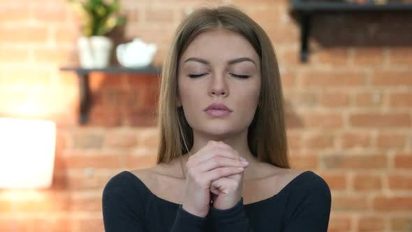 Thumbnail for Girl praying  for Forgiveness, Portrait