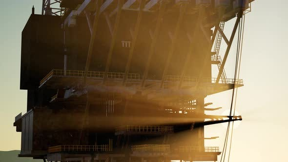 Thumbnail for Image of Oil Platform While Cloudless Day.