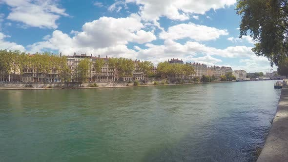 Thumbnail for Waterfront Of The City Of Lyon, France 3