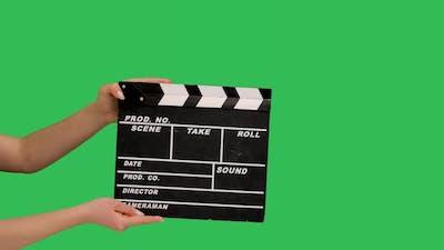 Movie Clapper Board Clapped