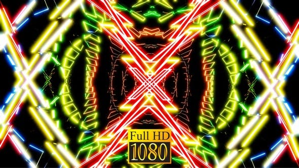 Neon Fantasy Flug Vj Loop Pack HD