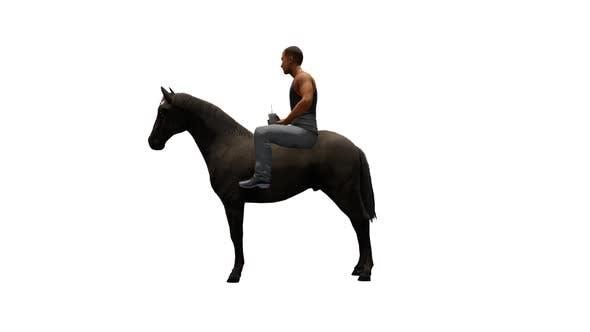 Thumbnail for Man Riding a Black Horse