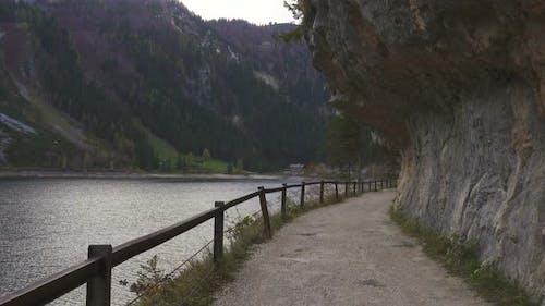Walking Along Austrian Lake