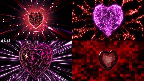 Thumbnail for Heart Grid (4-Pack)