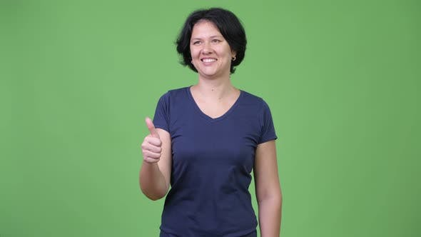 Thumbnail for Beautiful Woman with Short Hair Giving Thumbs Up
