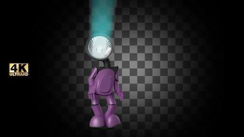 Glanz inspirierte glückliche Roboter