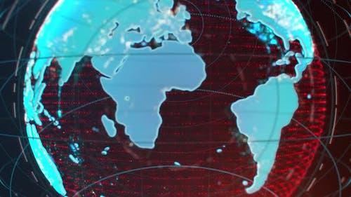 Animated Rotating Earth