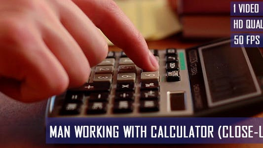 Thumbnail for Man Working With Calculator 2