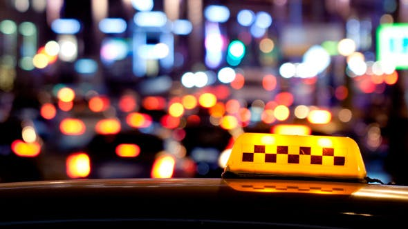 Thumbnail for Timelapse of City Traffic at Night Behind Taxi 1