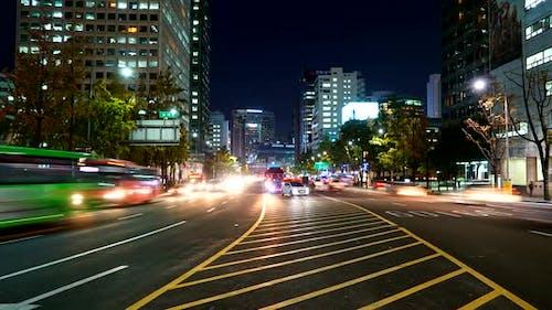 Zeitraffer von Seoul City in Südkorea