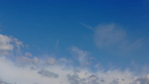 Thumbnail for 4K time lapse shot of clouds moving