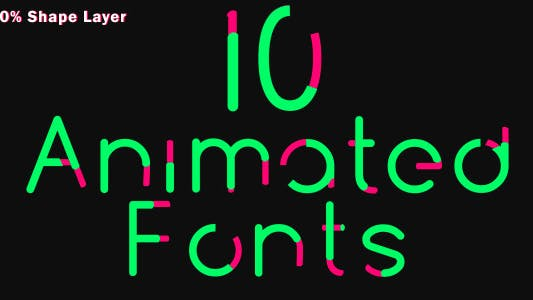 Thumbnail for 10 Animated Fonts