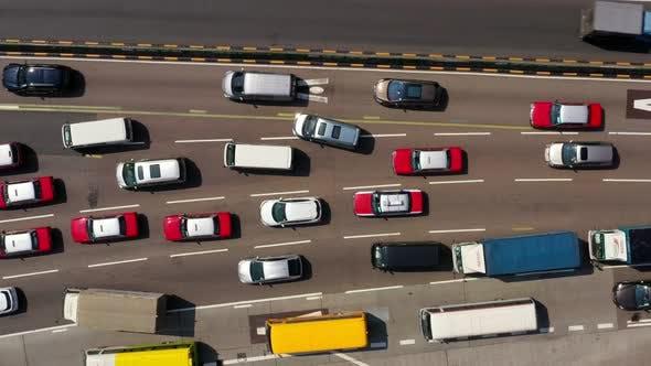 Thumbnail for Top view of Hong Kong traffic