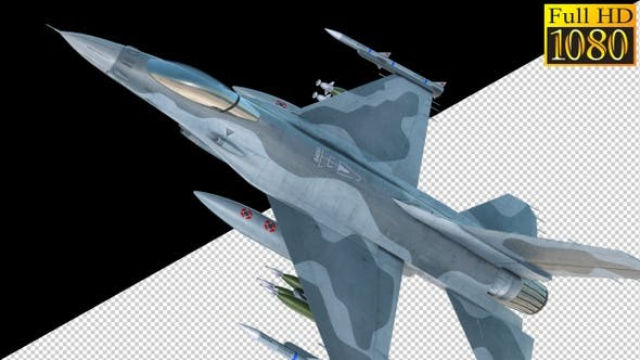 Thumbnail for Combat Jet Fighter On Alpha Channel Loops V1